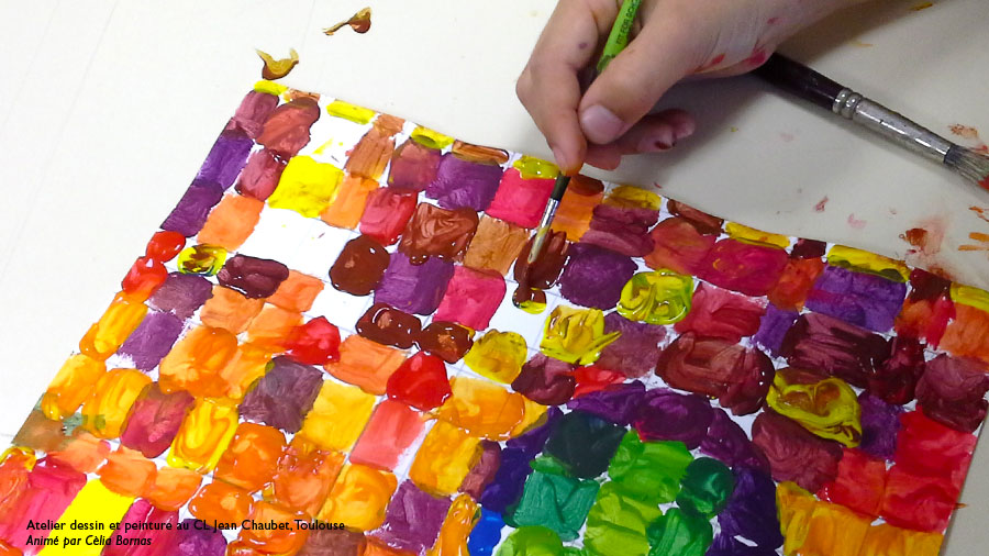 peinture couleurs froides chaudes