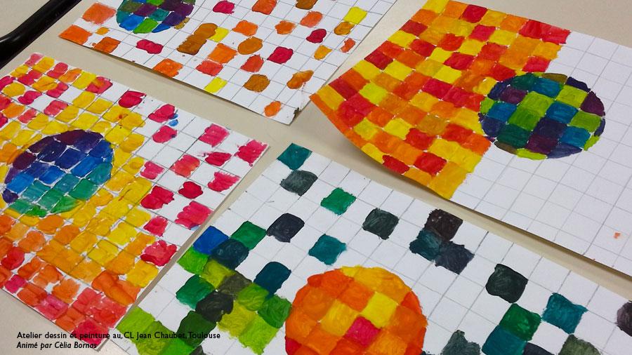 Atelier dessin et peinture enfants Toulouse : couleurs froides et ...